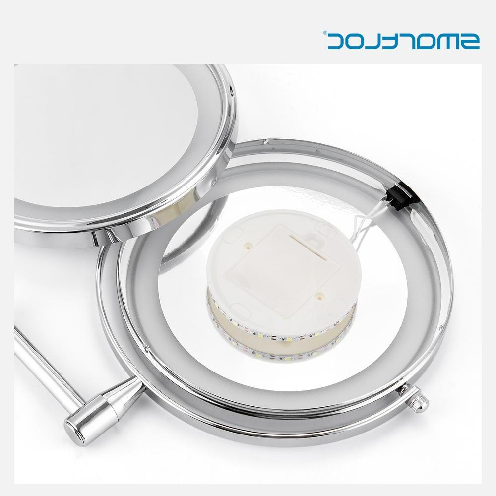 inch 5X Magnifying <font><b>Bathroom</b></font> Wall Mirror Mural Light <font><b>Vanity</b></font> Makeup Cosmetic Mirrors