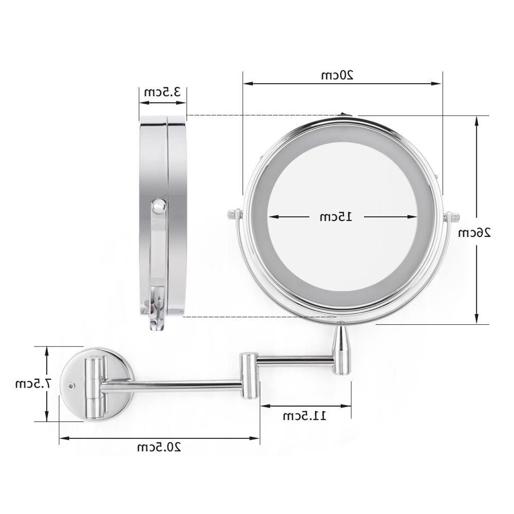 smartloc inch Magnifying Wall Mirror Light <font><b>Vanity</b></font> Cosmetic