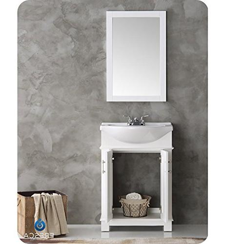 Fresca FVN2302WH-CMB Hartford White Bathroom Vanity