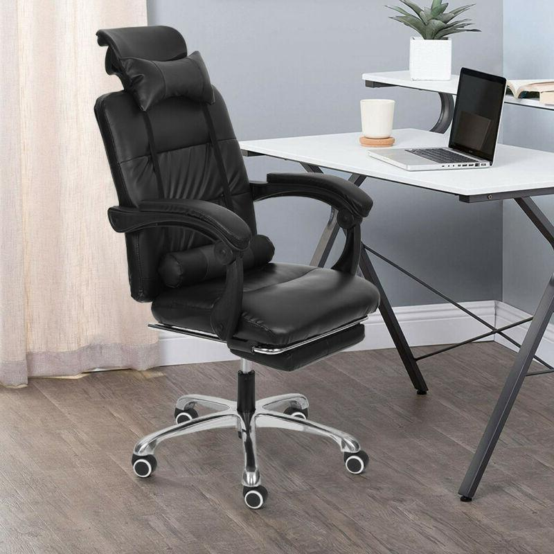 Gaming High-Back Adjustable PU Leather Recliner