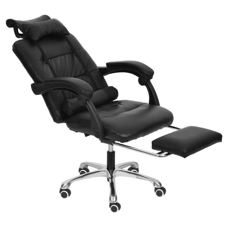 Gaming Chair Adjustable PU Recliner Footrest