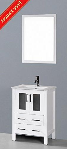 "24"" Bosconi GAW124U Single Vanity"