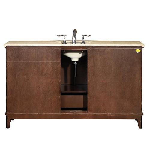 Silkroad Exclusive Travertine Vanity Cabinet,