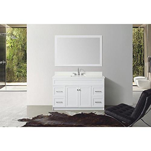 "55"" Inch Bradford Single Sink Set With White"