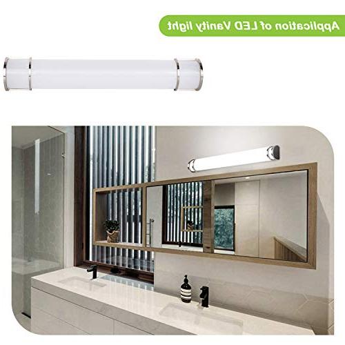 Hykolity 48 30W Integrated LED Light Bathroom Wall Sconce Lighting Fixture Brush Nickel Dimmable ETL