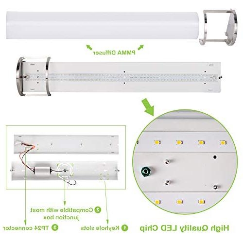Hykolity 48 Inch Integrated LED Light Nickel ETL