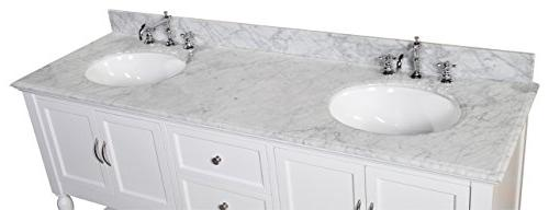 Kitchen Bath Collection Beverly Marble Soft Function Undermount Ceramic 72""
