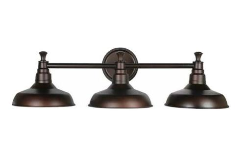 kimball 3 light textured coffee bronze indoor