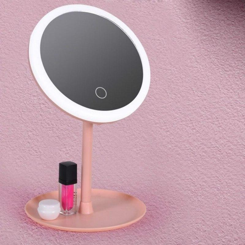 Led Mirror Touch USB Chargeable Travel Professional <font><b>Vanity</b></font> Mirrors