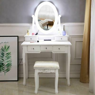 Makeup Dressing Table Vanity Set With White