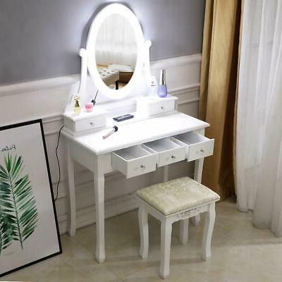makeup dressing table vanity set with mirror