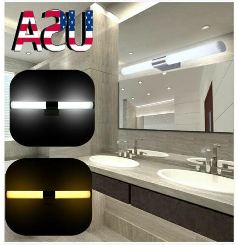 modern bathroom led mirror light front wall