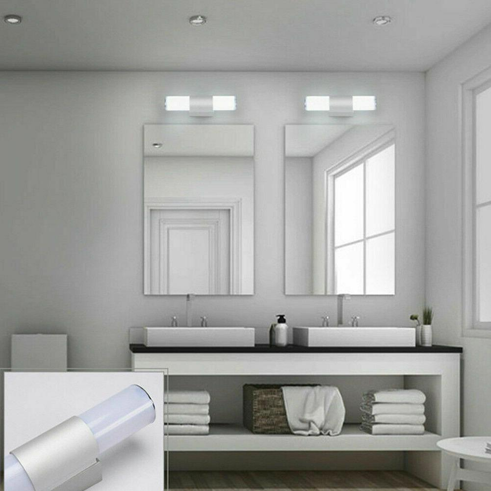 Modern Toilet Vanity Wall Makeup Mirror Front LED
