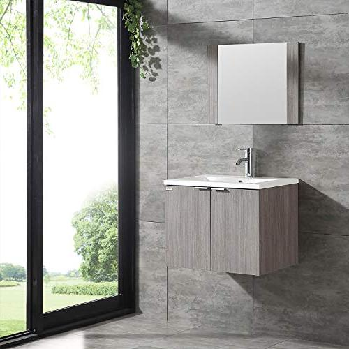 WONLINE Modern Wall with Resin Sink,