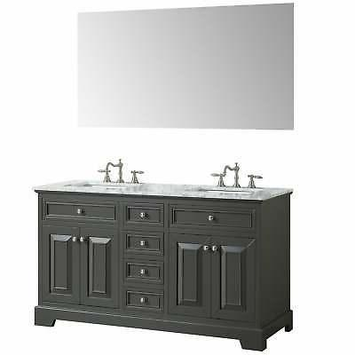 Eviva inch Gray Double Sink Bathroom Grey