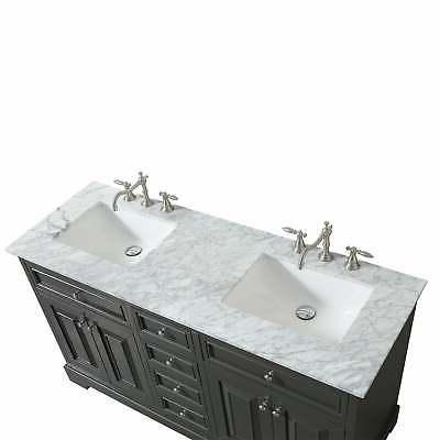 Eviva inch Gray Double Sink Bathroom Double Vanities