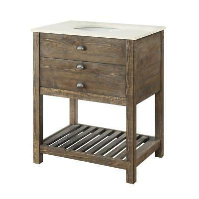 one drawer single vanity sink