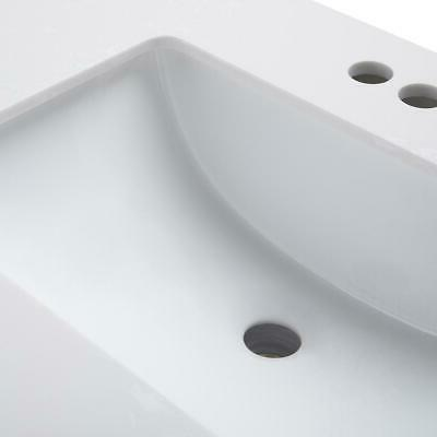 Russo 42 inch Vanity White Engineered Marble Top