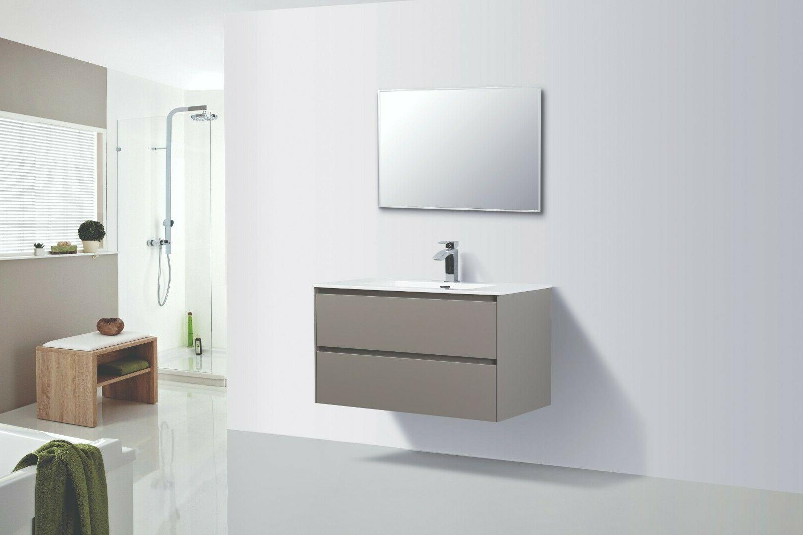 ---ALMA-SLICE 36″ GREY FINISH FLOATING VANITY ONE SINK