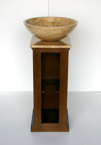 "16.5"" Vessel Single Basin Bathroom Pedestal Cabinet"