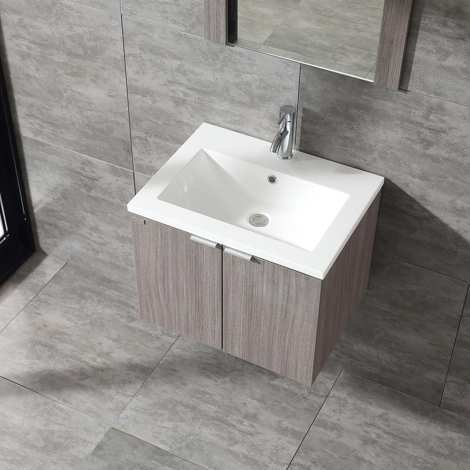 Wood Cabinet Basin Sink Combo