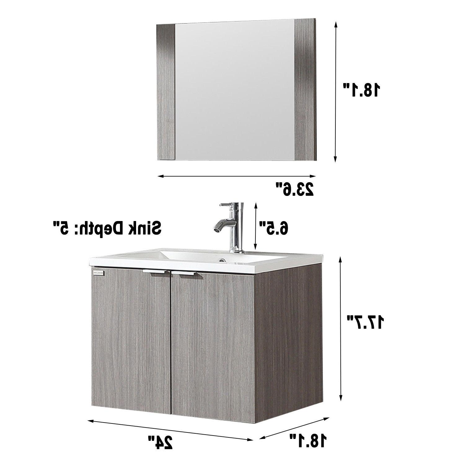 Wall-mount Wood Basin Sink Combo