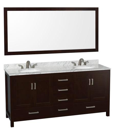 Wyndham Collection WCS141472DWH 72-in. Double Vanity -