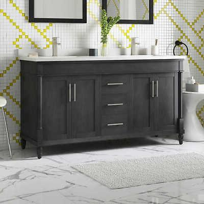 """Westport 60"""" Double w/Faucet By Ove, Countertop in White"""