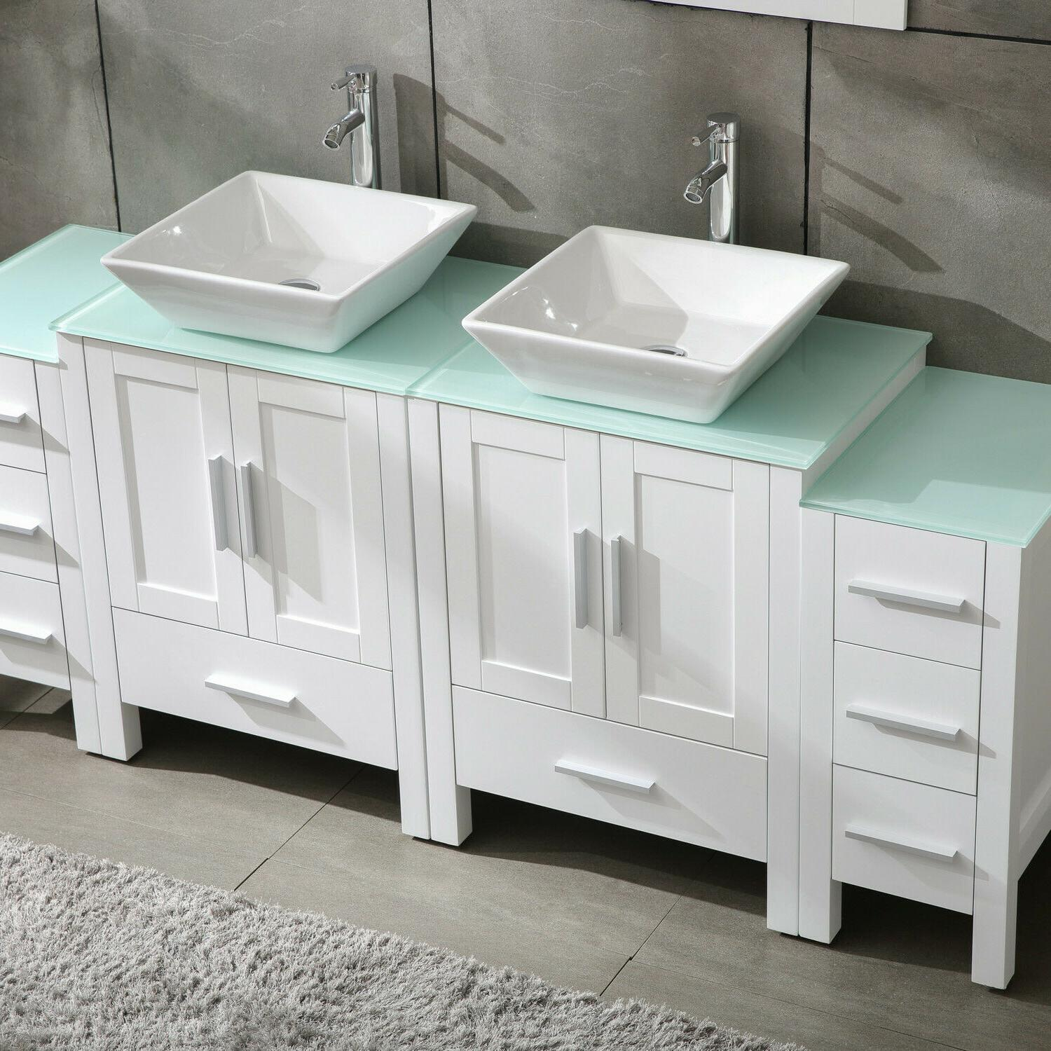 """White 72"""" Cabinet Sink Top"""