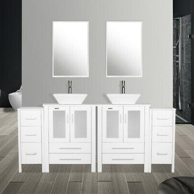 White Ceramic Faucet Side table