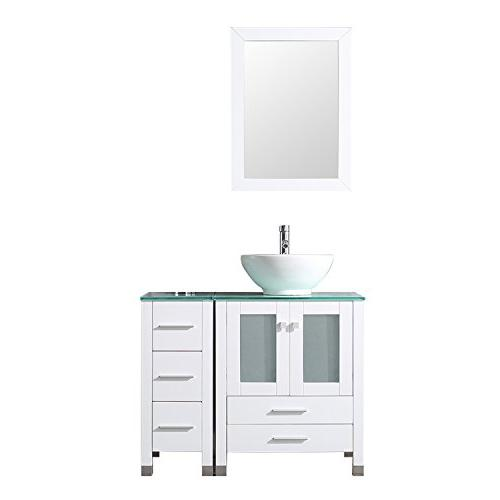 white bathroom wood vanity cabinet