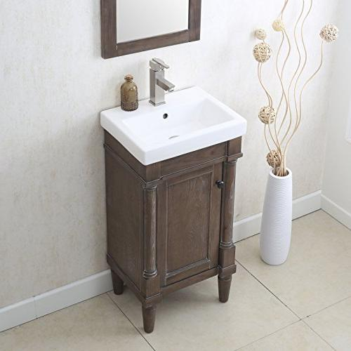 Legion Furniture Weathered Sink Vanity without Faucet, Grey