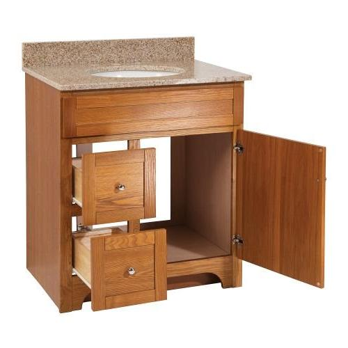 Foremost WROAT3021D-8W Worthington 30-Inch Oak with Wheat Granite and Sink