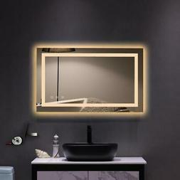 LED Wall-Mount Mirror Bathroom Vanity Makeup Illuminated Mir