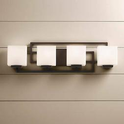 """Lighting on the Square Bronze 28 1/2"""" Wide Bath Wall Light"""