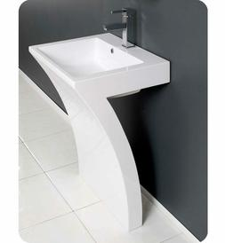 "LV-777 Lucky Seven  22 1/2"" Pedestal Bathroom Sink Vanities"