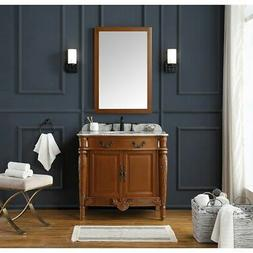 OVE Decors Lynton 36 in. Fruit Single Sink Vanity with Brass