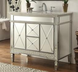 "40"" All-mirrored reflection Adelia Bathroom sink vanity Mode"