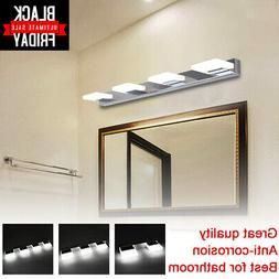 Modern Bathroom Vanity 2/3/4 LED Light Crystal Front Mirror