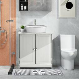 Modern Bathroom Vessel Sink Vanity Storage Cabinet w/ Shelf