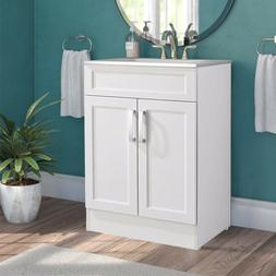 Modern Bathroom Vanity Cabinet Combo Set Ceramic Sink Storag