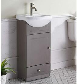Modern Gray FreeStanding Bathroom Wood Vanity Cabinet Combo
