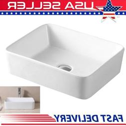 Modern Rectangle Above Counter Porcelain Ceramic Bathroom Ve