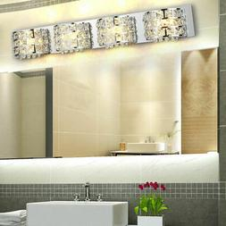 Modern Sconce Lamp LED Crystals&Stainless Steel Bath Vanity