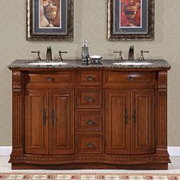 Monica 55 Double Sink Bathroom Vanity Set, Free-standing, Me