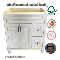 "New Antique White Single Bathroom Vanity Base Cabinet 36"" W"