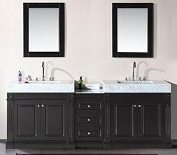 Design Element Odyssey Double Trough Style Sink Vanity Set,