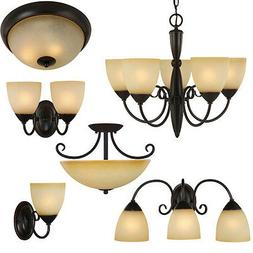 Oil Rubbed Bronze Bathroom Vanity, Ceiling Lights & Chandeli