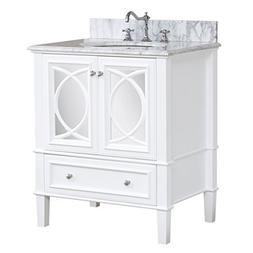 Olivia 30-inch Bathroom Vanity : Includes Italian Carrara Co