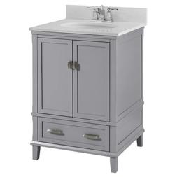 "Dorel Living Otum 24"" Bathroom Vanity, Gray"